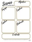 Science 5E Lesson Plan Printable