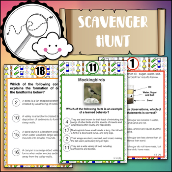 Science STAAR 5th grade Test Prep Scavenger Hunt (Version 1)