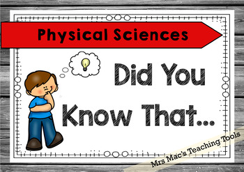 Science 6 - Did You Know & I Can Posters - Content Descriptors & Achievement