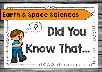 Science 7 - Did You Know & I Can Posters - Content Descriptors & Achievement