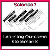 Science 7 Learning Outcome I Can Statement Posters (Alberta)
