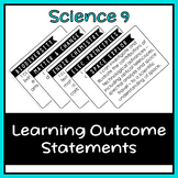 Science 9 Learning Outcome I Can Statements (Alberta)