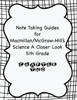 Science A Closer Look Note Taking Guide Ch. 2