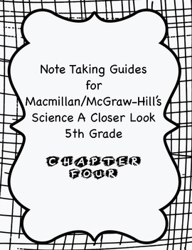 Science A Closer Look Note Taking Guide Ch. 4