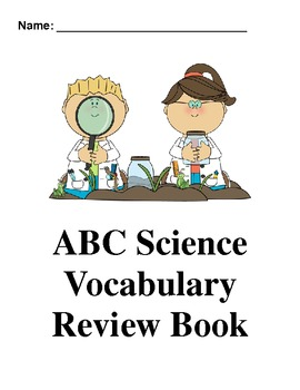 Science ABC Vocabulary Book
