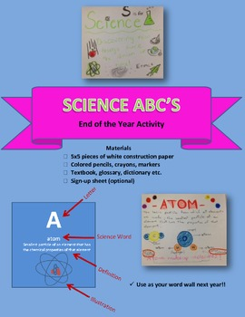 Science ABC's End of the Year Activity