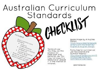 Science ACARA Standard Checklist