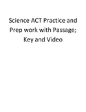 Science ACT Lesson Practice Prep Passage, Answer Key, and