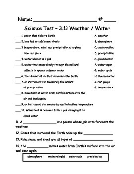 Science AL 3.13 Voc. and Test - New Common Core Standards
