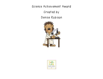 Science Achievement Award:  Certificate