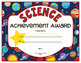 Science Achievement and Award Certificates - EDITABLE!