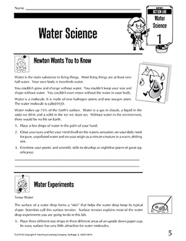 Science Action Labs Water Science: Active Science with Water