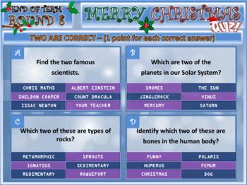 Science Activities Christmas Quiz 2019