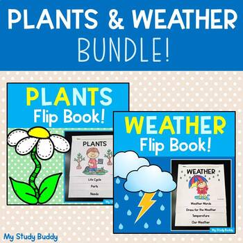 Science Activities: Plant Flip Book & Weather Flip Book Bundle