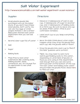 Science Activities With Water