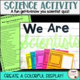 Science Activity Back to School: What Type of Scientist Are You?