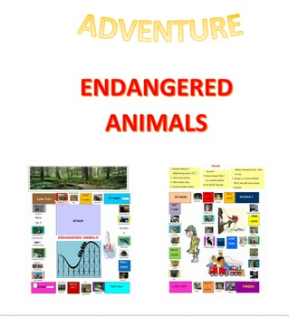 Science Adventure  Endangered Animals Board Game