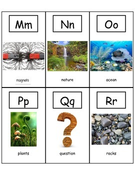 Science Alphabet Flash Cards