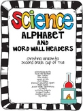Science Alphabet & Mini-Word Wall Headers {Upper Elementary}