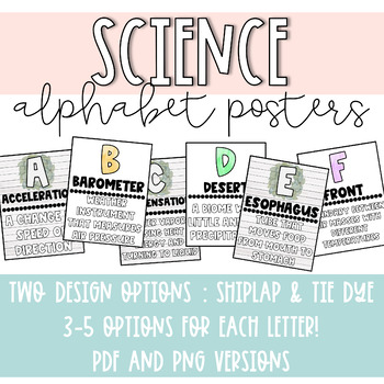 Science Alphabet Posters - Redownload for Edits and New Version!!!