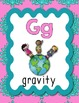 Science Alphabet Posters A to Z (pink, blue, teal)