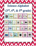 Science Alphabet STAAR Aligned Red, Black, Grey Cheveron