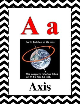 Science Alphabet STAAR Aligned Red, Black, Grey Cheveron