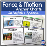 Science Anchor Chart Posters in English & Spanish: Force & Motion