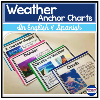 Science Anchor Chart Posters in English & Spanish: Weather & Climate