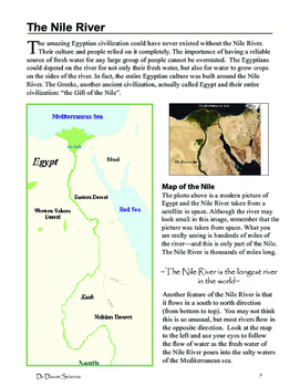 Science of Ancient Egypt, The Nile River