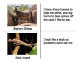 Science: Animal Characteristics Pictures and Descriptions Matching Cards