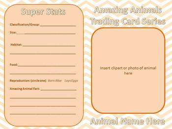 Science - Animal Classification Trading Cards
