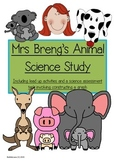 Science Animal Study with Graphing Assessment