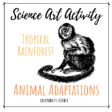 Science + Art Activity: Structure and Function {Rainforest Animal Adaptations}
