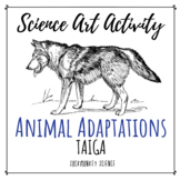Science + Art Activity: Structure and Function {Taiga Animal Adaptations}