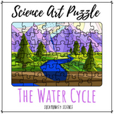 Science + Art Puzzle: The Water Cycle Activity and Worksheet