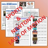 Science Article - Newton's Laws of Motion (article, questions, photos, puzzle)