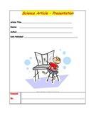 Science Article Presentation Sheet