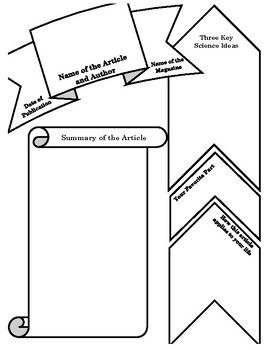 Science Article Summary Graphic Organizer