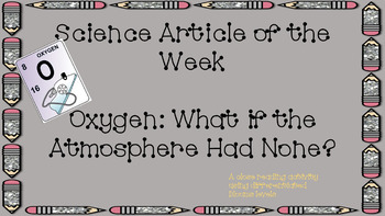 Science Article of the Week: Oxygen
