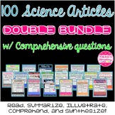 Science Articles: 20 Pack DOUBLE Bundle Deal!  Paired Text Comprehension