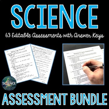 Science Assessments Bundle - Distance Learning Compatible