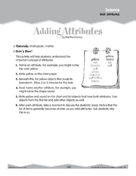Science: Attributes (Ten-Minute Activities)
