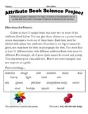 Science: Attributes and Properties of Matter Project Letter & Rubric