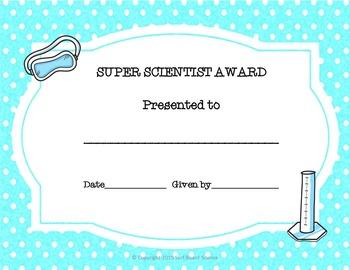 Science Award Certificates Freebie