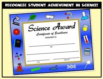 Science Award - Editable