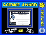 Science Award IV - Editable