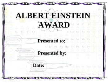 Science Awards Template and Ideas