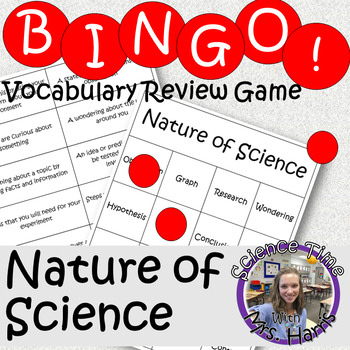 Science BINGO! Nature of Science (Scientific Method) Vocab Review