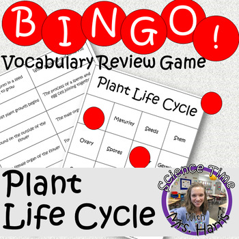 Science BINGO! Plant Life Cycle Vocab Review
